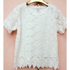 ราคา เสื้อลูกไม้สีขาวA007 2 ราคาถูกที่สุด
