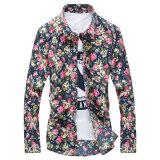 ขาย ดอกไม้เกาหลีผู้ชายแขนยาวฤดูใบไม้ผลิพิมพ์เสื้อเสื้อ A02 ส่วนบาง ราคาถูกที่สุด