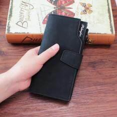 ขาย กระเป๋าธนบัตร กระเป๋าสตางค์แบบยาว A27 สีดำ Unbranded Generic ถูก