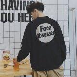 โปรโมชั่น อาเบอร์ดีนศิลปะชายเสื้อลำลองเสื้อแจ็คเก็ตบางเบสบอลชายสตรีท Stamp นักเรียนเสื้อ นานาชาติ