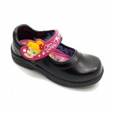ขาย ซื้อ Adda รองเท้านักเรียนอนุบาลหญิง ติดเทป สีดำ ทิงเกอร์เบลล์ นางฟ้าเริงร่า ไทย