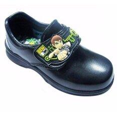 ขาย Adda รองเท้านักเรียนอนุบาลชาย ติดเทป สีดำ เบ็นเท็น Benten ออมนิทริกซ์ Adda เป็นต้นฉบับ