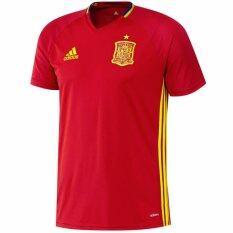 Adidas เสื้อฟุตบอล Uefa Euro 2016 Spain Training Jersey Ai4850 Red Adidas ถูก ใน ไทย