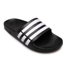 ขาย Adidas Men Women รองเท้าแตะ ผู้ชาย ผู้หญิง รุ่น Duramo Slide G15890 Black White Adidas