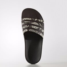 ราคา Adidas Originals Adilette Slides Sandals Slippers Black White Print Bb5098 Women ใน กรุงเทพมหานคร