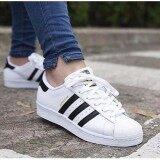 ราคา Adidas รองเท้า ลำลอง หญิง อาดิดาส รุ่น ซุปเปอร์สตาร์ Superstar 80S Deluxe Vintage White Core Black Adidas เป็นต้นฉบับ
