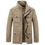 ขาย Afs Jeep Mens Plus Size Outdoor Cargo Loose Multi Pockets Thick Jacket Casual Coat Khaki Intl