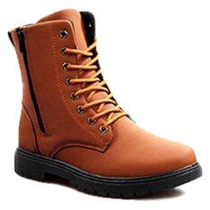 ราคา Afterthat รองเท้าบู๊ท รุ่น Hk94 สีน้ำตาลอ่อน ไทย