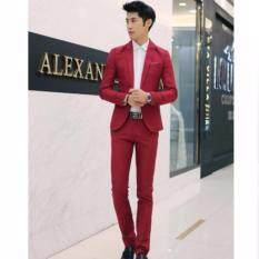 ราคา Afterthat ชุดสูท เสี้อสูท กางเกง Kg27Rd Red ใหม่