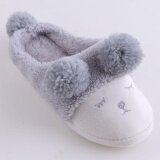 ซื้อ Ai Home Plush Sheep Women Soft Warm Indoor Slippers Cotton Sandal House Home Anti Slip Shoes Grey Intl ออนไลน์