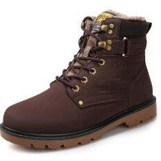 ราคา ผู้ชาย Aideli รองเท้าส้นสูงฤดูหนาวรองเท้าทำงานกลางแจ้งมาร์ตินบู๊ทส์รองเท้าบูทคาวบอยรองเท้าบูทรองเท้าข้อเท้า นานาชาติ Aideli เป็นต้นฉบับ