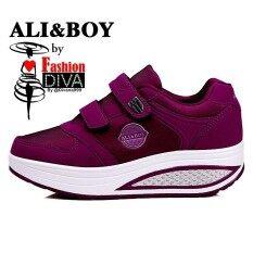 Ali & Boy สุภาพสตรีที่วิ่งออกกำลังกาย Fitness Gym รองเท้ากีฬา Lace-Up Sneakers By Diva.