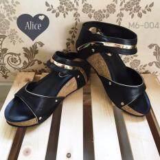 โปรโมชั่น Alice M6 004 รองเท้าแฟชั่น ดำ ถูก