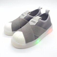 ทบทวน Alice Shoe รองเท้าผ้าใบ แฟชั่นเด็กผู้ชาย และ เด็กผู้หญิง รุ่นCvs078 Gy สีเทา Alice Shoe