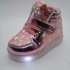 ขาย Alice Shoe รองเท้าผ้าใบ แฟชั่นเด็กผู้ชาย และ เด็กผู้หญิง รุ่น Skh056 P สีชมพู ราคาถูกที่สุด
