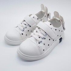 Alice Shoe รองเท้าผ้าใบ แฟชั่นเด็กผู้หญิง รุ่นSKL168-W(สีขาว)