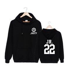 ขาย Fashion Got7 Meeting Album Concert Junior Cotton Hoodies Hat Clothes Pullovers Sweatshirt Pt434 Jr Black Intl ใหม่