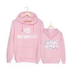 ทบทวน Korean Fashion Btob 9Th Mini Album New Men Cotton Hoodies With Hat Clothes Pullovers Sweatshirt Pt308 Pink Intl