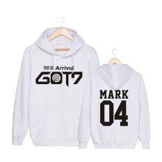 ซื้อ เกาหลีแฟชั่น Got7 อัลบั้ม Flight Log Arrival ไม่เคยฝ้ายฮู้ดหมวกเสื้อผ้า Pullovers เสื้อ Pt399 Mark สีขาว นานาชาติ Alipop ออนไลน์
