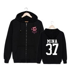 ขาย แฟชั่นเกาหลี Twice Third Mini อัลบั้ม Twicecoaster Lane1 ผ้าฝ้าย Zipper Hoodies เสื้อผ้าเสื้อยืด Zip Up Pt290 Mina37 Alipop ใน จีน