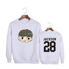 ความคิดเห็น เกาหลี Got7 Q สไตล์อัลบั้ม My Swagger Hey Yah เดินทางออก Fly ฝ้ายฮู้ด Pullovers เสื้อ Pt482 Jackson สีขาว นานาชาติ