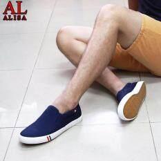 โปรโมชั่น Alisa Shoes รองเท้าผ้าใบผู้ชายแฟชั่น รุ่น Lm 699 Navy ใน กรุงเทพมหานคร