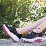 ซื้อ Alisa Shoes รองเท้าผ้าใบแฟชั่นComfort รุ่น 3308 Black ออนไลน์ ถูก