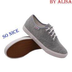 ขาย Alisa Shoes รองเท้าผ้าใบผู้หญิง รุ่น 2655 Grey ถูก