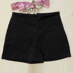 All About Me กางเกงขาสั้น ผ้าฮานาโกะ สีดำ ใหม่ล่าสุด