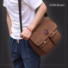 ซื้อ Allday Cv09 Brown กระเป๋าสะพายข้าง ผ้าแคนวาส สีน้ำตาล กระเป๋าผู้ชาย ถูก Thailand