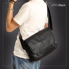 Allday Lt11 Black กระเป๋าสะพายข้าง หนัง Pu สีดำ กระเป๋าผู้ชาย ถูก