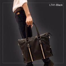 ขาย Allday Lt41 Black กระเป๋าถือผู้ชาย กระเป๋าสะพายข้าง กระเป๋าสะพายไหล่ หนัง Pu สีดำ กระเป๋าผู้ชาย เป็นต้นฉบับ