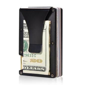 แนะนำ Aluminum Slim Wallet Front Pocket Wallet & Money Clip Minimalist  Wallet RFID Blocking Purse for Men and Women - intl - Linda Bags for