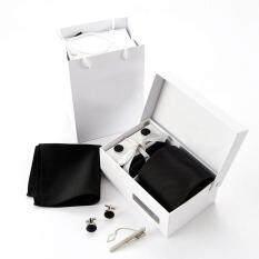 โปรโมชั่น Amart 6 ชิ้น เซ็ตชายผ้าผูกเน็กไทผ้าชีฟองผูกเนคไทชุด Cufflink Hanky Business Gifts สี 18 ถูก