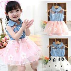 ขาย แอมป์น่ารักผ้ายีนส์เสื้อดวงอาทิตย์ดอกไม้เจ้าหญิงชุดเด็กทารกเสื้อผ้าเด็กวัยหัดเดิน นานาชาติ ออนไลน์ แองโกลา