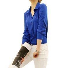 ราคา Amart เสื้อแฟชั่นสีทึบฤดูใบไม้ร่วงเสื้อแขนยาวหญิง N ชีฟอง Casual Office เลดี้เสื้อผ้า ใหม่ล่าสุด