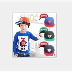 Amart แฟชั่นเกาหลี Superman หมวกเบสบอลเด็กเสือพิมพ์ผู้ชายและผู้หญิงหมวกแบนสีเหลืองสีฟ้า.
