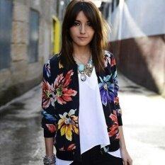 ขาย Amart แฟชั่นดอกไม้พิมพ์หญิงสาวสบายๆเสื้อกันหนาวเบสบอลซิปบางเสื้อแขนยาว Outwear ถูก แองโกลา