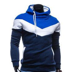ซื้อ Amart แฟชั่นเสื้อกันหนาวมีฮู้ดเสื้อฮู้ดสันทนาการผู้ชายที่มีขนนุ่ม และข้น ถูก