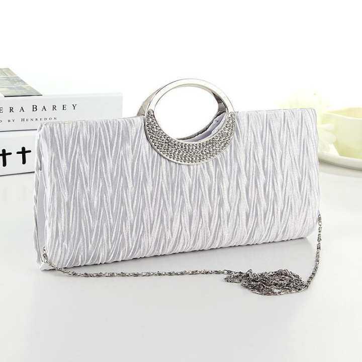 รีวิว Amart Fashion Women Handbag Purse Rhinestone Evening Clutch Bag Chain Bridal Wedding Party Bags –