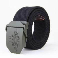 โปรโมชั่น Amart Men S Belts Canvas Belt Weave Buckle Casual Wild Automatic Belt Black Intl ถูก