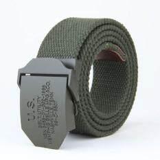 ซื้อ แอมป์เข็มขัดผ้าใบเข็มขัดหนังแท้เข็มขัดรัดรูปอัตโนมัติ สีเขียว สนามบินนานาชาติ Amart ออนไลน์