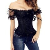 ขาย Amart Women Lace Up Off Shoulder Corset Overbust Bustier Strapless Tops Slim Waist Trainer Body Shaper Intl Amart