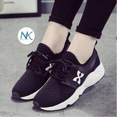 ราคา Anacami รองเท้าผ้าใบผู้หญิง สไตล์nmd รุ่น Logo X Anacami สมุทรปราการ