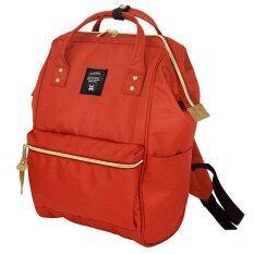 ซื้อ Anello Authentic Anello Japan Imported Canvas ผ้าใบ Unisex Backpack กระเป๋าเป้สะพายหลัง Dark Orange สีส้มเข้ม ออนไลน์ ไทย
