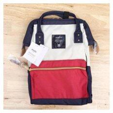 ขาย ซื้อ Anello กระเป๋าเป้ ของแท้ 100 ไซส์มาตราฐาน สี Tri Color Polyester Canvas ทรง Rucksack