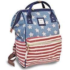 ขาย กระเป๋าเป้สะพายหลัง Anello Official Usa Flag Pattern Handle Backpack Campus Standard Size Japan Imported 100 Anello ถูก