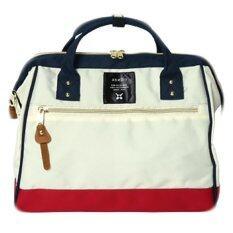 ราคา Anello Regular Polyester Canvas Boston Bag Tricolor ออนไลน์ Thailand
