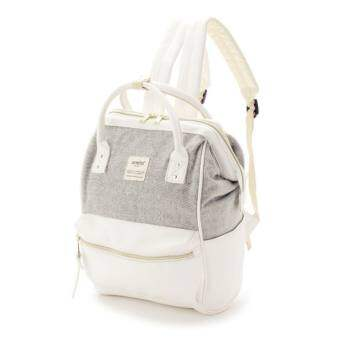 กระเป๋าเป้ Anello The Emporium Mini Backpack Limited Edition - (Dark/White) Japan Imported 100%