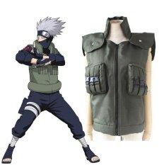 ราคา Anime Naruto Shippuden Hatake Kakashi Ninja Vest Green Cosplay Costume Halloween Costumes Intl ใหม่
